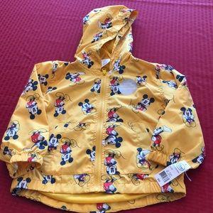 NWT Disney Mickey Mouse Rain Coat Jacket Size 4